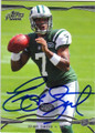 GENO SMITH NEW YORK JETS AUTOGRAPHED ROOKIE FOOTBALL CARD #22514C