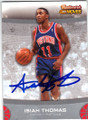 ISIAH THOMAS DETROIT PISTONS AUTOGRAPHED BASKETBALL CARD #22514E