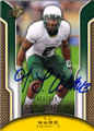 T J WARD OREGON DUCKS & CLEVELAND BROWNS AUTOGRAPHED & NUMBERED ROOKIE FOOTBALL CARD #30114B