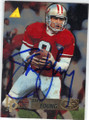 STEVE YOUNG SAN FRANCISCO 49ers AUTOGRAPHED FOOTBALL CARD #30114D