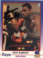 IRAN BARKLEY AUTOGRAPHED BOXING CARD #30114G