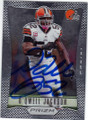 D'QWELL JACKSON CLEVELAND BROWNS AUTOGRAPHED FOOTBALL CARD #30114i