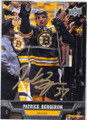 PATRICE BERGERON BOSTON BRUINS AUTOGRAPHED HOCKEY CARD #30314A
