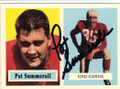 PAT SUMMERALL CHICAGO CARDINALS AUTOGRAPHED FOOTBALL CARD #30314G
