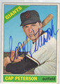 CAP PETERSON SAN FRANCISCO GIANTS AUTOGRAPHED VINTAGE BASEBALL CARD #30314L