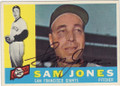 SAM JONES SAN FRANCISCO GIANTS AUTOGRAPHED VINTAGE BASEBALL CARD #30314M