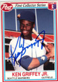 KEN GRIFFEY JR SEATTLE MARINERS AUTOGRAPHED BASEBALL CARD #30314N