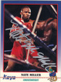 NATE MILLER AUTOGRAPHED BOXING CARD #30414B