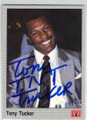 TONY TUCKER AUTOGRAPHED BOXING CARD #30414i