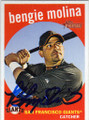 BENGIE MOLINA SAN FRANCISCO GIANTS AUTOGRAPHED BASEBALL CARD #30514E