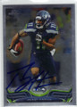 PERCY HARVIN SEATTLE SEAHAWKS AUTOGRAPHED FOOTBALL CARD #30614L
