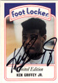 KEN GRIFFEY JR SEATTLE MARINERS AUTOGRAPHED BASEBALL CARD #30714G