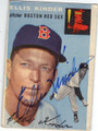 ELLIS KINDER BOSTON RED SOX AUTOGRAPHED VINTAGE BASEBALL CARD #31014D