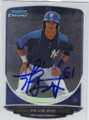 FU-LIN KUO NEW YORK YANKEES AUTOGRAPHED ROOKIE BASEBALL CARD #31014E