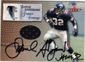 JAMAL ANDERSON ATLANTA FALCONS AUTOGRAPHED PIECE OF THE GAME FOOTBALL CARD #31014F