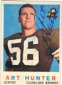 ART HUNTER CLEVELAND BROWNS AUTOGRAPHED VINTAGE FOOTBALL CARD #31114B