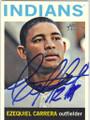 EZEQUIEL CABRERA CLEVELAND INDIANS AUTOGRAPHED BASEBALL CARD #31114C