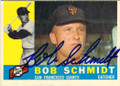 BOB SCHMIDT SAN FRANCISCO GIANTS AUTOGRAPHED VINTAGE BASEBALL CARD #31714J