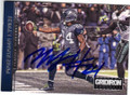 MARSHAWN LYNCH SEATTLE SEAHAWKS RUNNING BACK AUTOGRAPHED FOOTBALL CARD #32014F