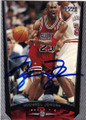 MICHAEL JORDAN CHICAGO BULLS AUTOGRAPHED BASKETBALL CARD #32114E