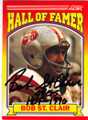 BOB ST. CLAIR SAN FRANCISCO 49ers AUTOGRAPHED FOOTBALL CARD #32114i