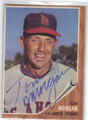 TOM MORGAN LOS ANGELES ANGELS AUTOGRAPHED VINTAGE BASEBALL CARD #32314B