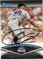 UBALDO JIMENEZ COLORADO ROCKIES AUTOGRAPHED BASEBALL CARD #32314K