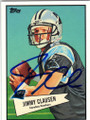 JIMMY CLAUSEN CAROLINA PANTHERS AUTOGRAPHED ROOKIE FOOTBALL CARD #32314M