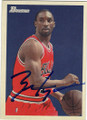 BEN GORDON DETROIT PISTONS AUTOGRAPHED BASKETBALL CARD #32414E