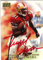 TERRELL OWENS SAN FRANCISCO 49ers AUTOGRAPHED FOOTBALL CARD #32914A