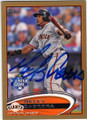 MELKY CABRERA SAN FRANCISCO GIANTS AUTOGRAPHED & NUMBERED BASEBALL CARD #32914E