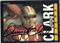DWIGHT CLARK SAN FRANCISCO 49ers AUTOGRAPHED VINTAGE FOOTBALL CARD #33014O