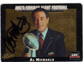 AL MICHAELS AUTOGRAPHED FOOTBALL CARD #33114P