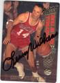LENNY WILKENS ST LOUIS HAWKS AUTOGRAPHED BASKETBALL CARD #33114U