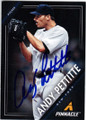 ANDY PETTITTE NEW YORK YANKEES AUTOGRAPHED BASEBALL CARD #40114P
