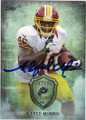 ALFRED MORRIS WASHINGTON REDSKINS AUTOGRAPHED FOOTBALL CARD #40414H