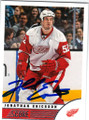 JONATHAN ERICSSON DETROIT RED WINGS AUTOGRAPHED HOCKEY CARD #40714D