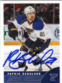 PATRIK BERGLUND ST LOUIS BLUES AUTOGRAPHED HOCKEY CARD #40814S