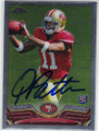 QUINTON PATTON SAN FRANCISCO 49ers AUTOGRAPHED ROOKIE FOOTBALL CARD #40814T