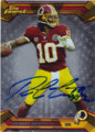 ROBERT GRIFFIN III WASHINGTON REDSKINS AUTOGRAPHED FOOTBALL CARD #40914C