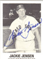 JACKIE JENSEN BOSTON RED SOX AUTOGRAPHED VINTAGE BASEBALL CARD #40914E