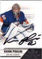KEVIN POULIN NEW YORK ISLANDERS AUTOGRAPHED HOCKEY CARD #41014J