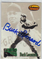 BUCK LEONARD HOMESTEAD GRAYS AUTOGRAPHED BASEBALL CARD #41114J
