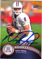 NICK FOLES ARIZONA WILDCATS AUTOGRAPHED ROOKIE FOOTBALL CARD #41414A