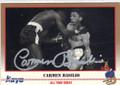 CARMEN BASILIO AUTOGRAPHED BOXING CARD #41414D