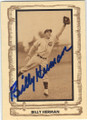 BILLY HERMAN CHICAGO CUBS AUTOGRAPHED VINTAGE BASEBALL CARD #41514D