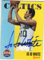 JO JO WHITE BOSTON CELTICS AUTOGRAPHED BASKETBALL CARD #41514i