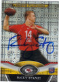RICKY STANZI KANSAS CITY CHIEFS AUTOGRAPHED ROOKIE FOOTBALL CARD #41514P