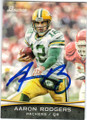 AARON RODGERS GREEN BAY PACKERS AUTOGRAPHED FOOTBALL CARD #41614M