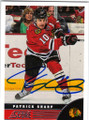 PATRICK SHARP CHICAGO BLACKHAWKS AUTOGRAPHED HOCKEY CARD #41614P